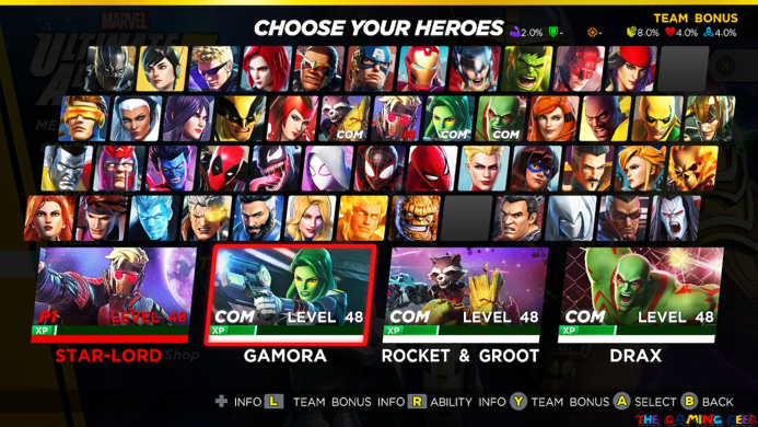 Marvel Ultimate Alliance 3 - Character Roster