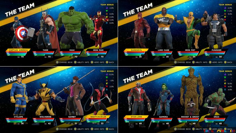 Marvel Ultimate Alliance 3 - Sample Lineups