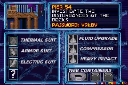 Mysterio's Menace - status screen