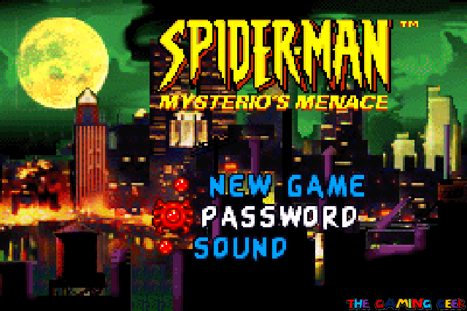 Spider-Man: Mysterio's Menace - title screen