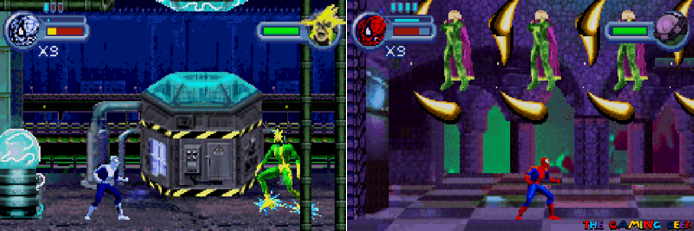 Battling Electro and Mysterio