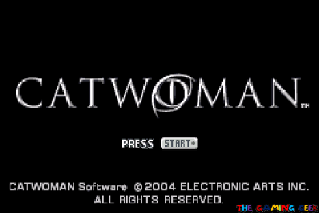 Catwoman title screen