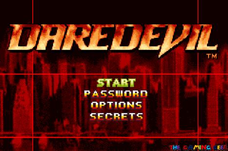 Daredevil - title screen