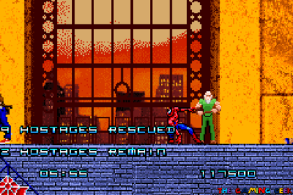 Spider-Man GBA - Rescuing hostages