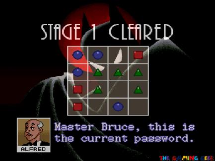 The Adventures of Batman & Robin - password screen