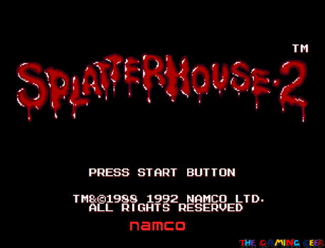 Splatterhouse 2 - title screen