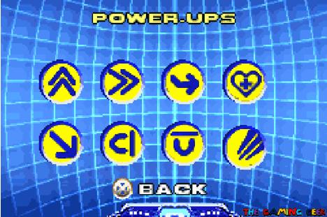 Wolverine's Revenge - Power Ups screen